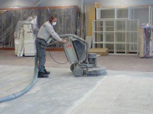 Overflatebehandling av betonggulv